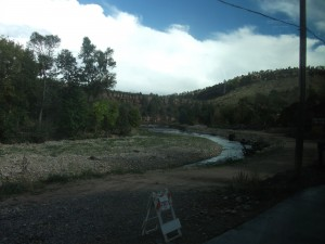 The St. Vrain watershed under more normal conditions during our visit.