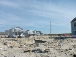 A scene from the Jersey shore after Hurricane Sandy.