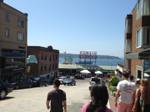 Let's see, the last time I visited the Pike Street Market, I came home with a gel ice-packed 7-lb. steelhead salmon, promptly consumed that weekend by family friends in a backyard cookout.