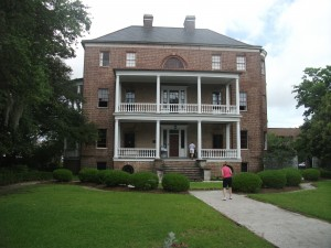 The Joseph Manigault House, viewed from the Temple Gate.