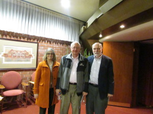 With Sandy and David Rhoads in the lobby of the Golden Rondelle Theater