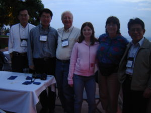 One of the special pleasures of my position was the opportunity every summer to attend the Natural Hazards Conference in Colorado. Here, along with my wife, Jean, and daughter, Anna, in 2007, are some visitors from Taiwan whom I had met during a conference there the year before.