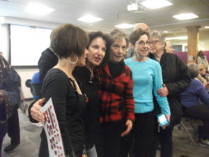 U.S. Rep. Jan Schakowsky posing with followers.